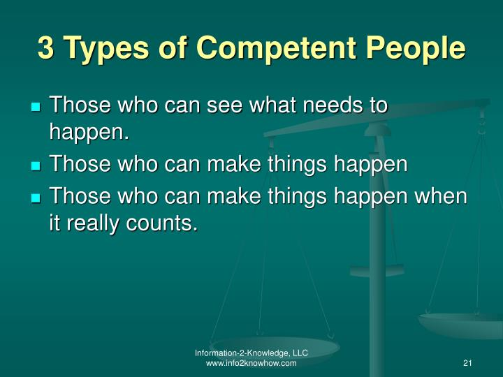 3 Types of Competent People