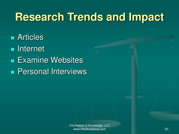 Research Trends and Impact