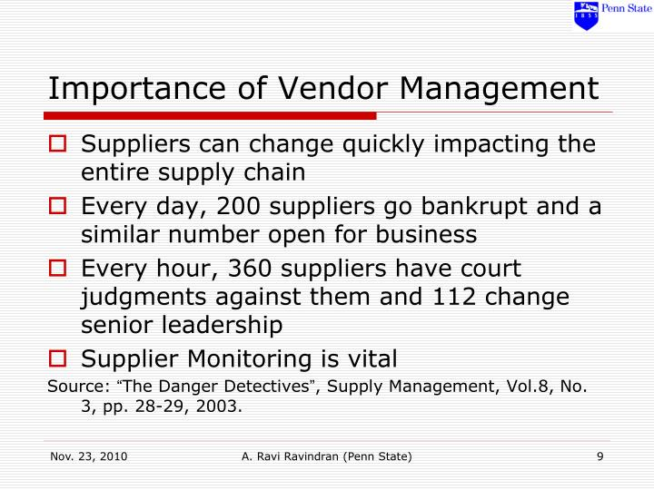 Importance of Vendor Management