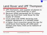 land rover and upf thompson