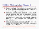 mcdm methods for phase 1