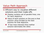value path approach