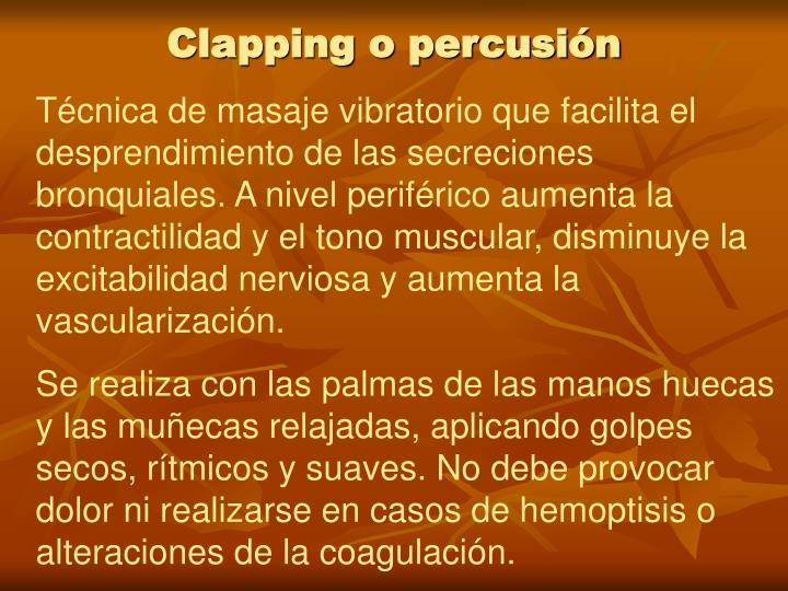 Clapping o percusión