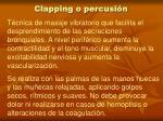 clapping o percusi n