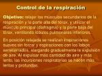 control de la respiraci n