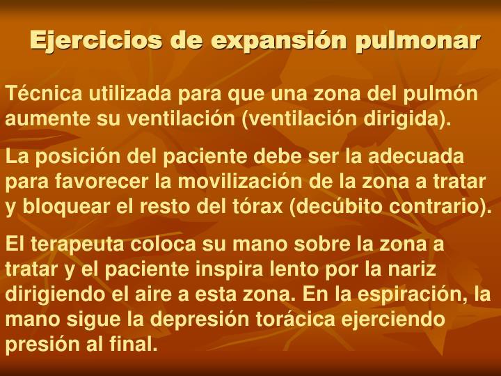 Ejercicios de expansión pulmonar