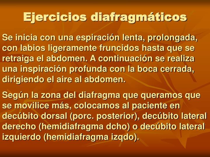 Ejercicios diafragmáticos