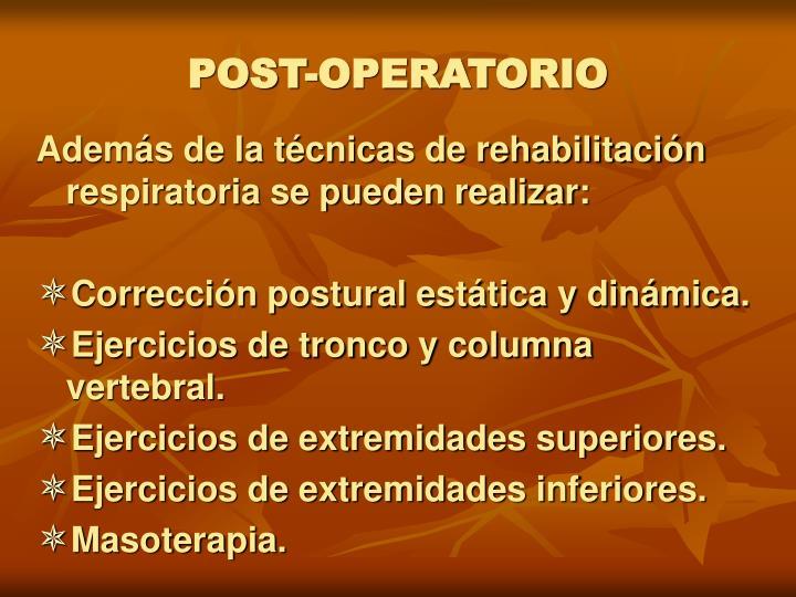 POST-OPERATORIO