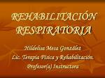 rehabilitaci n respiratoria