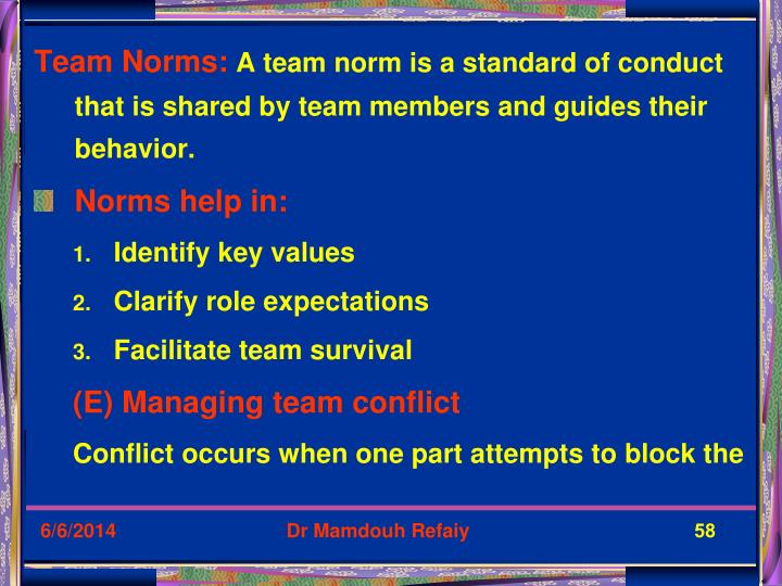 Team Norms: