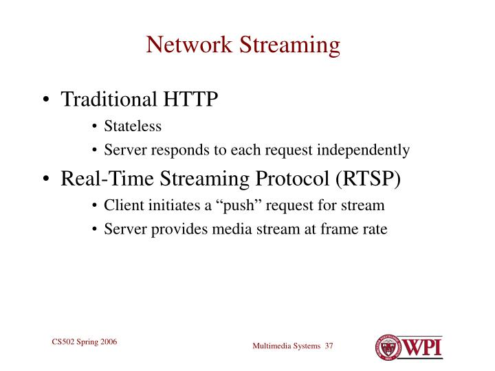 Network Streaming