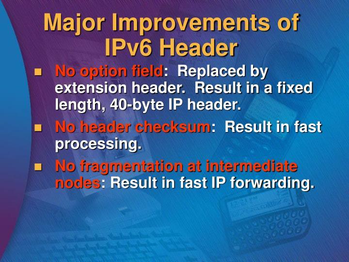 Major Improvements of