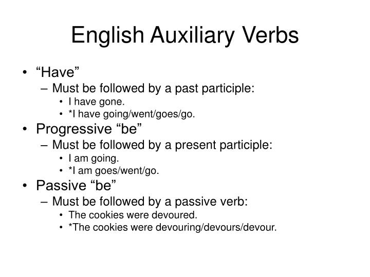 English Auxiliary Verbs