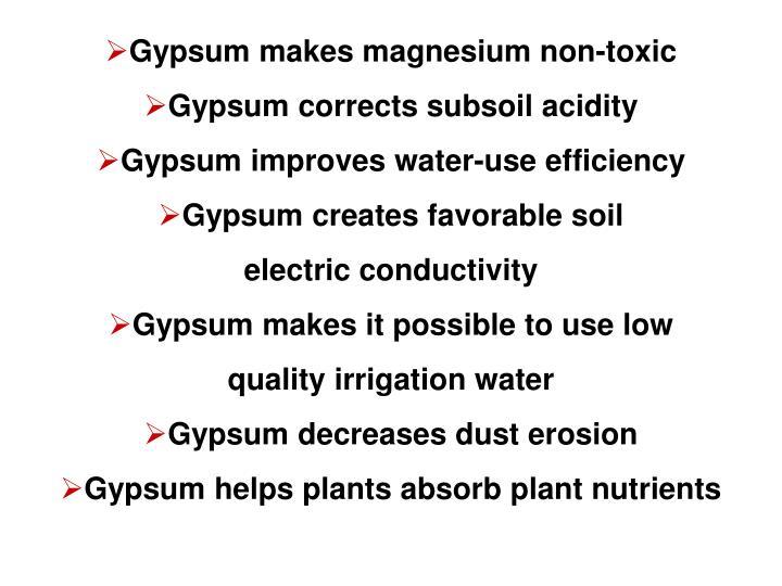 Gypsum makes magnesium non-toxic