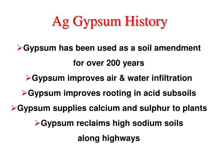 Ag Gypsum History