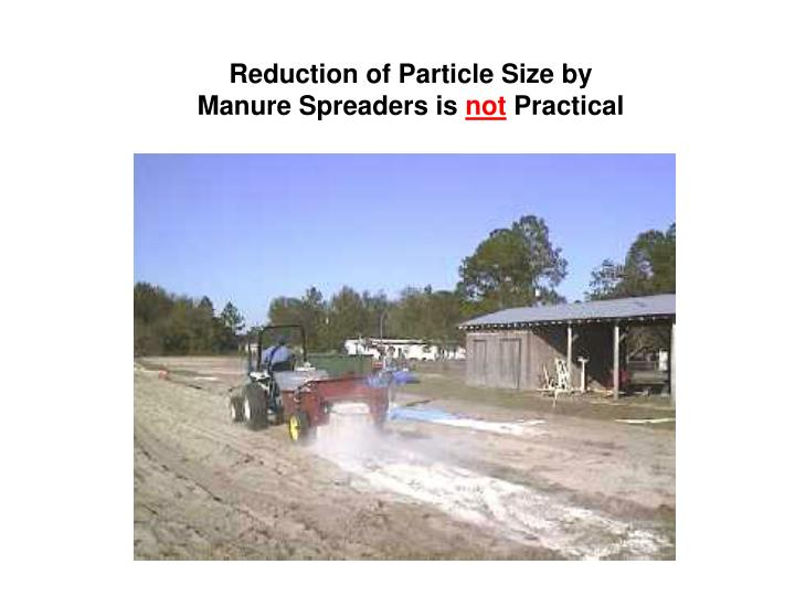 Reduction of Particle Size by Manure Spreaders is