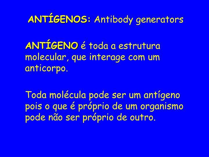 ANTÍGENOS: