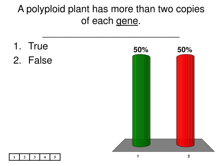 A polyploid plant has more than two copies of each