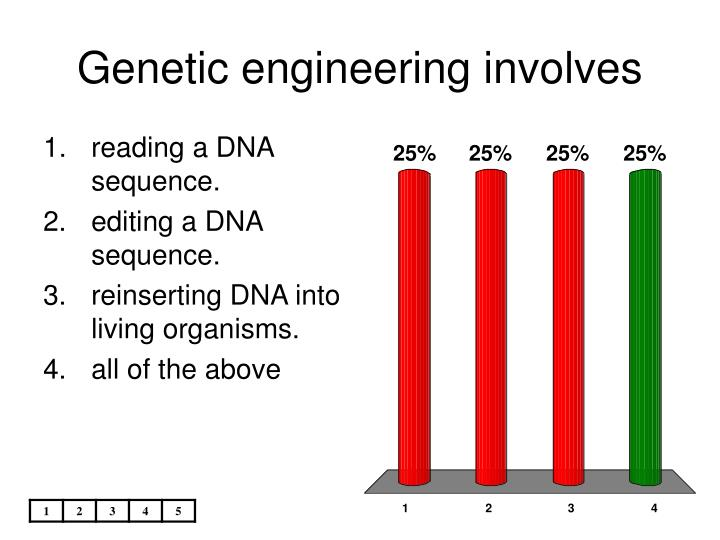 Genetic engineering involves
