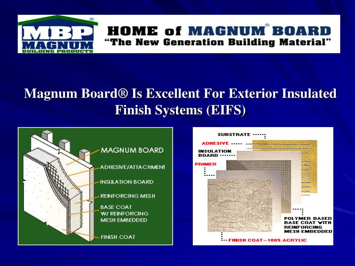Ppt Introduction To Magnum Building Products Llc Our Products And Our Commitment To You