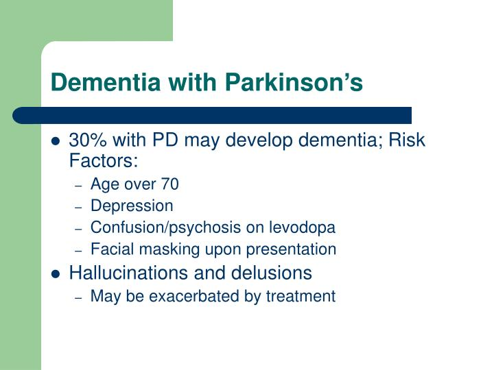Dementia with Parkinson's