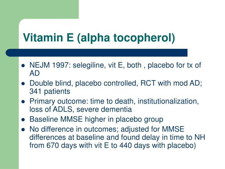 Vitamin E (alpha tocopherol)