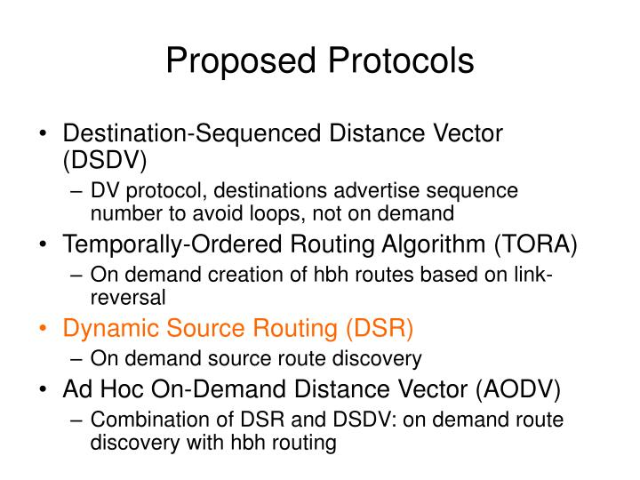 Proposed Protocols