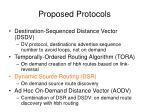 proposed protocols