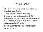 route cache