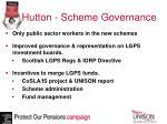 hutton scheme governance