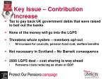 key issue contribution increase