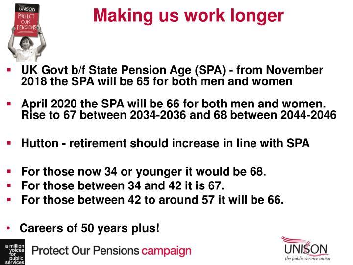 Making us work longer