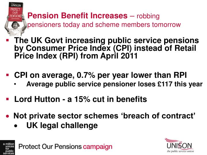 Pension Benefit Increases