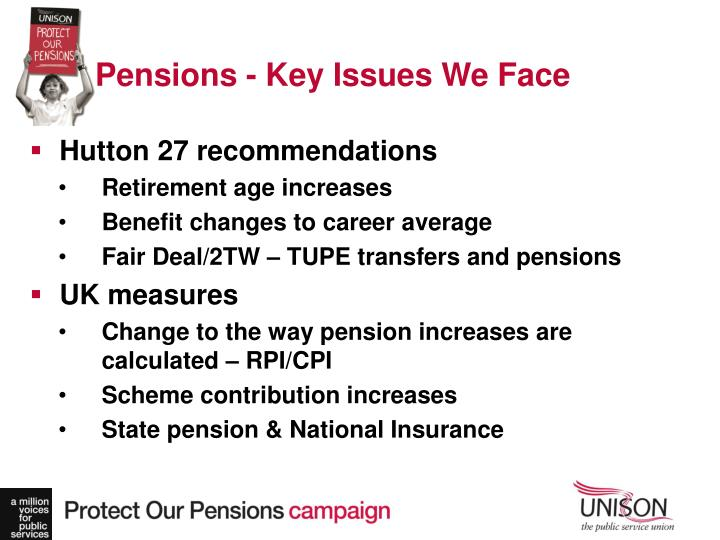 Pensions - Key Issues We Face
