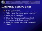 geography history links