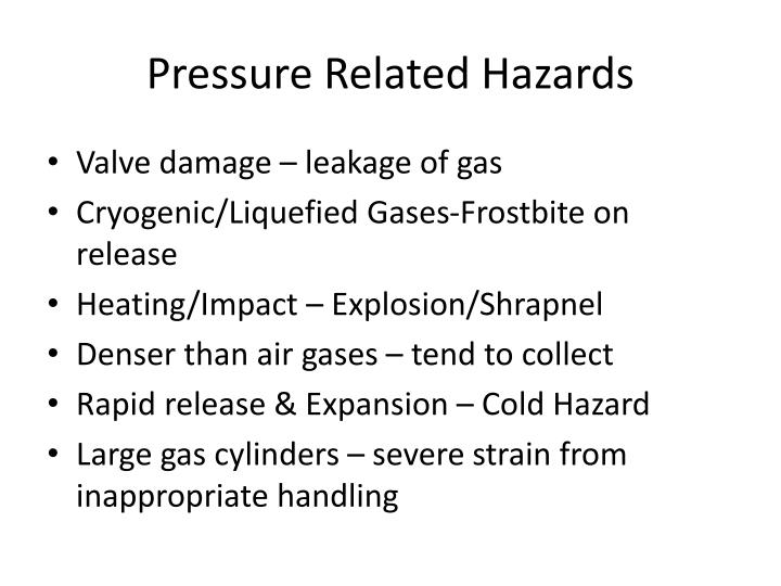 Pressure Related Hazards