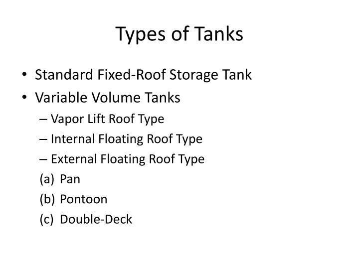 Types of Tanks