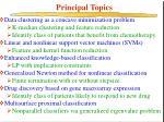 principal topics