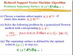 reduced support vector machine algorithm nonlinear separating surface