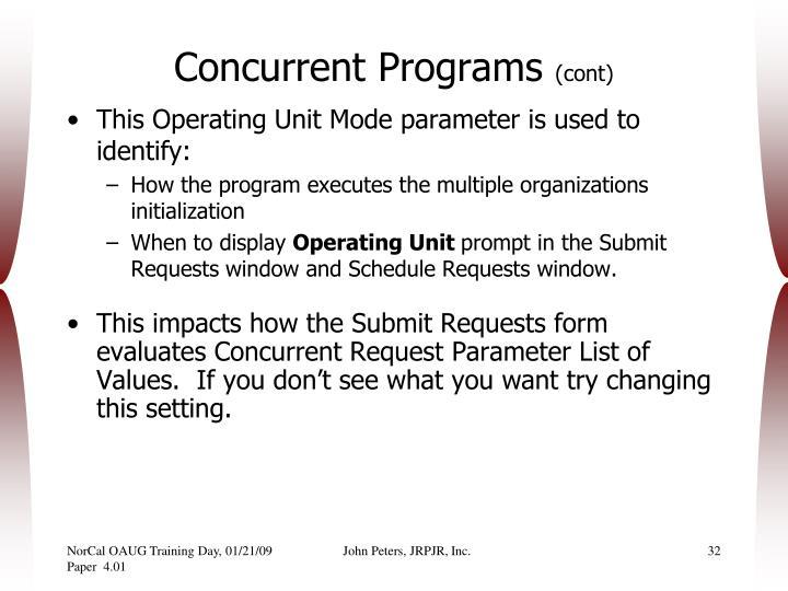 Concurrent Programs