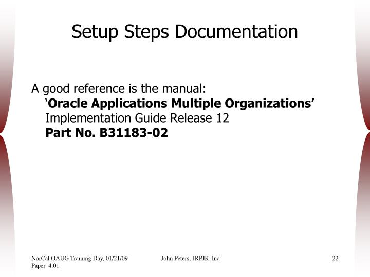 Setup Steps Documentation