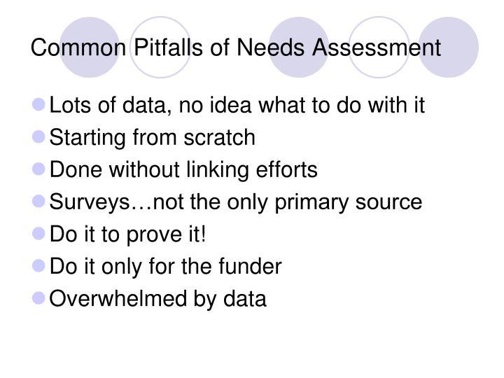 Common Pitfalls of Needs Assessment