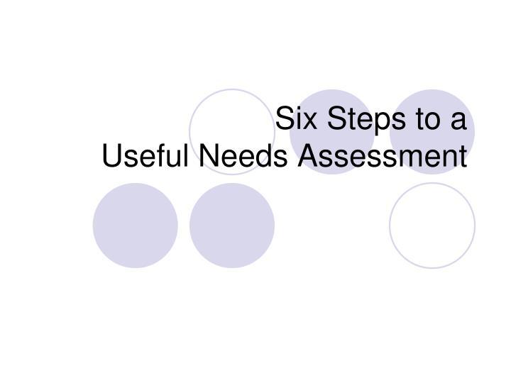 Six Steps to a