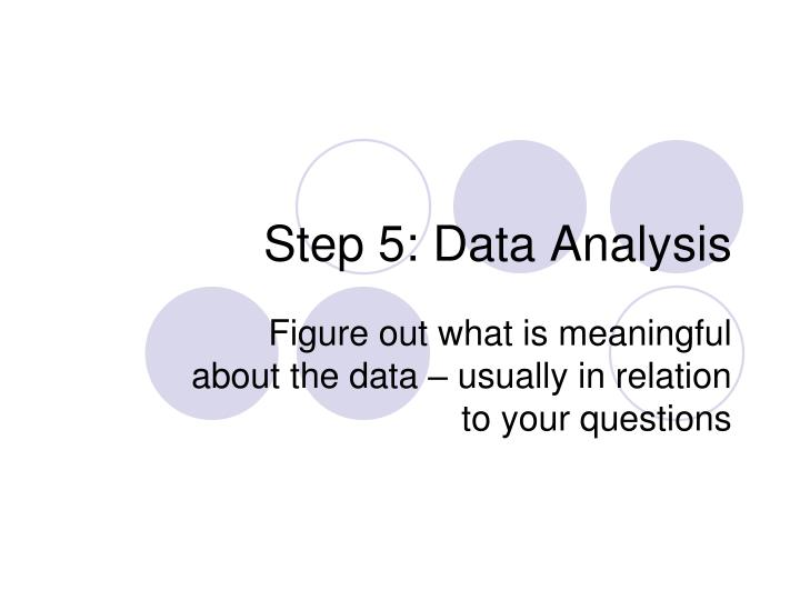 Step 5: Data Analysis