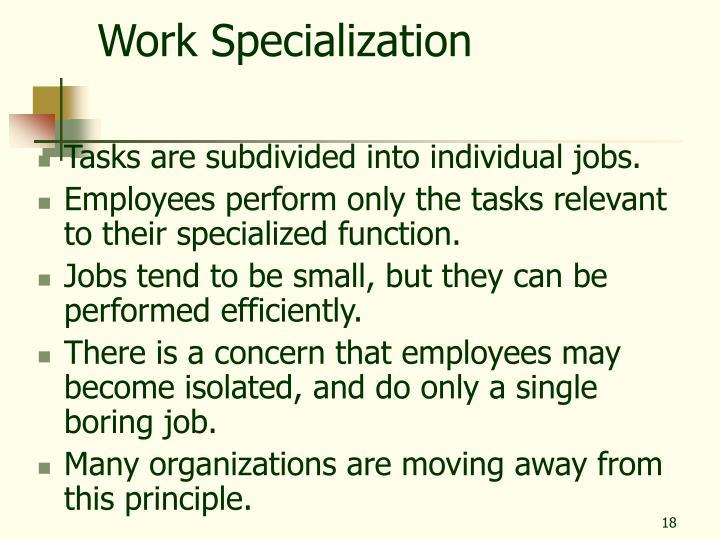Work Specialization