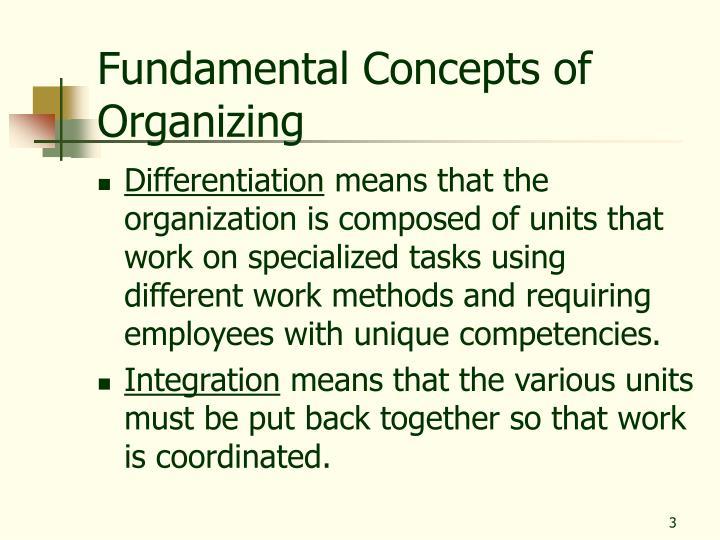 Fundamental Concepts of Organizing