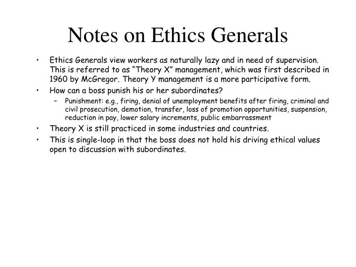 Notes on Ethics Generals