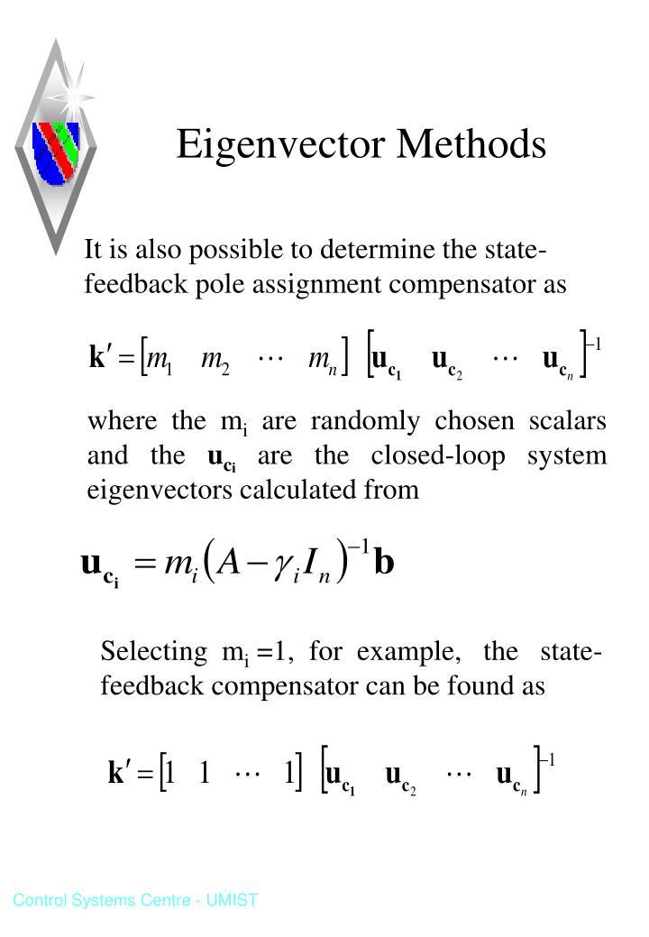 Eigenvector Methods