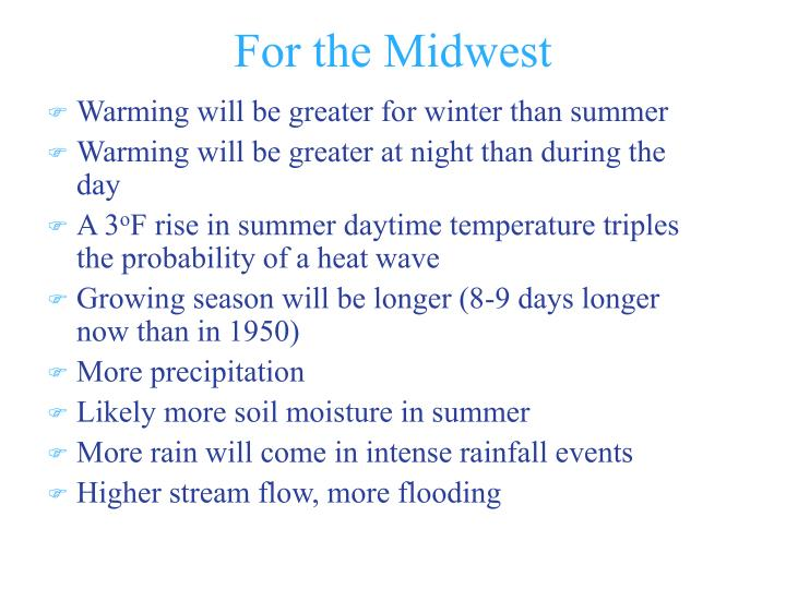 For the Midwest
