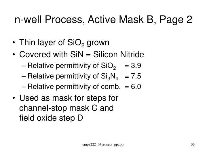 n-well Process, Active Mask B, Page 2